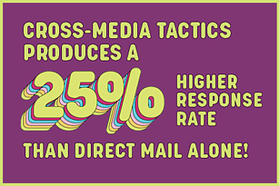 25% or higher than direct mail alone